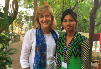 The Hunger Project Australia CEO, Melanie Noden with Basanti Gameti